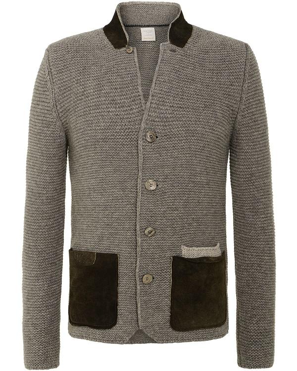 Gran Sasso giacca grigia made in Italy con colletto in lana per donna Gran Sasso
