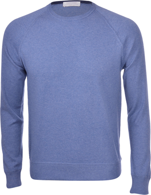 Picture of CASHMERE AND COTTON RAGLAN CREW NECK