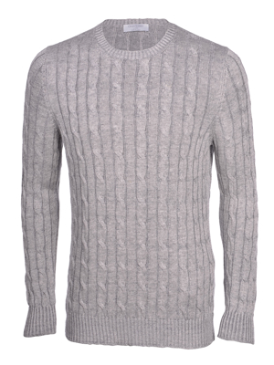 Picture of LINEN CABLE CREW NECK