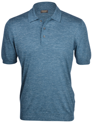 Picture of CASHMERE SILK AND LINEN KNIT POLO