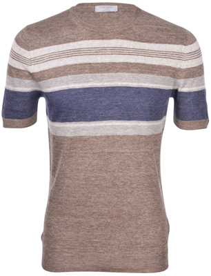 Picture of STRIPED LINEN KNIT T-SHIRT