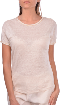 Picture of LINEN T-SHIRT WITH BRIGHT DETAILS