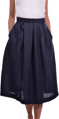 Picture of LINEN MIDI SKIRT