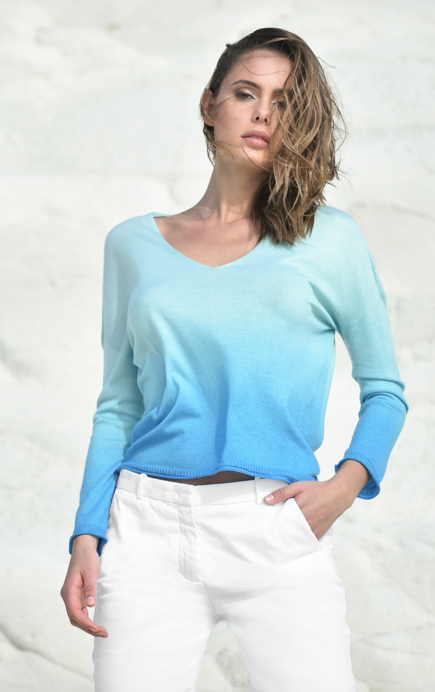 Summer Cashmere shaded pullover